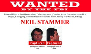 Wanted poster for Neil Stammer