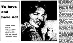 Lauren Bacall interview, Guardian 18 October 1972
