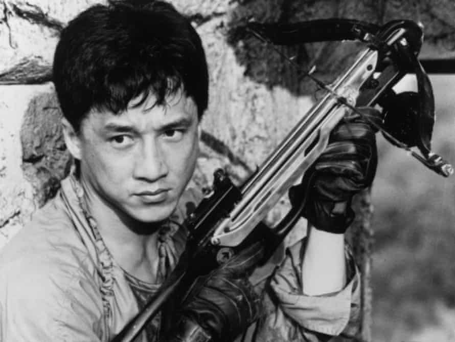 Jackie Chan in the film Armour of God