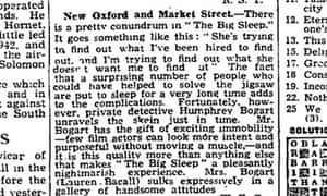 Review of The Big Sleep Bacall and Bogart, Manchester Guardian 4 February 1947
