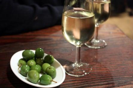 Olives and manzanilla