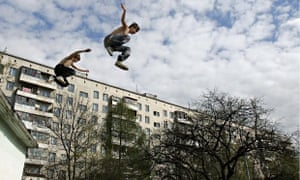 Parkour in Moscow
