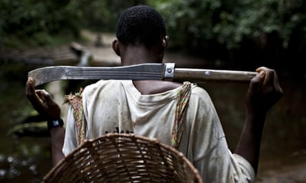 A hunter in Cameroon