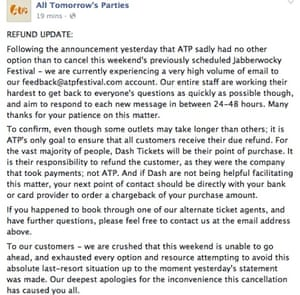 ATP Facebook statement