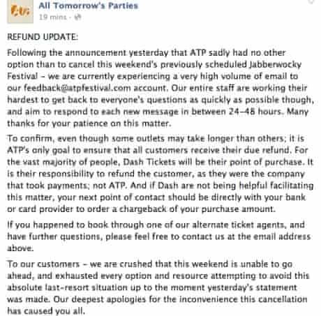 ATP Facebook statement