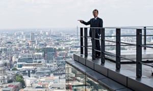 Graham Stirk on the roof of the Leadenhall building