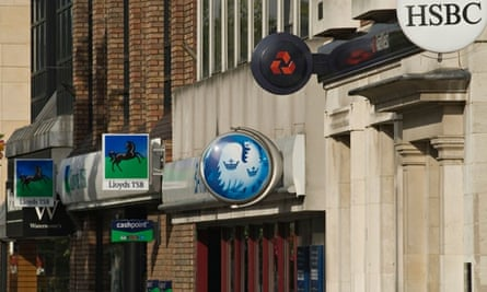 A variety of high street banks