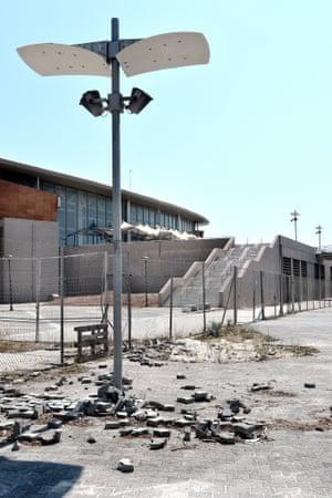The Taekwondo Olympic Stadium at Faliro Olympic Complex.