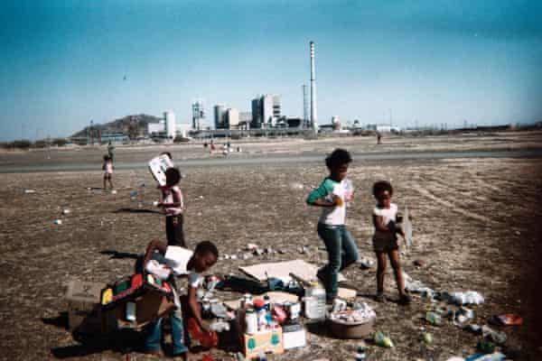 Children from Marikana have made a playhouse out of stones