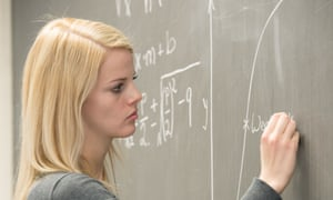 Young women are leaving the equations to the men