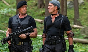 Old guard: Sylvester Stallone and Antonio Banderas go through the motions in Expendables 3.