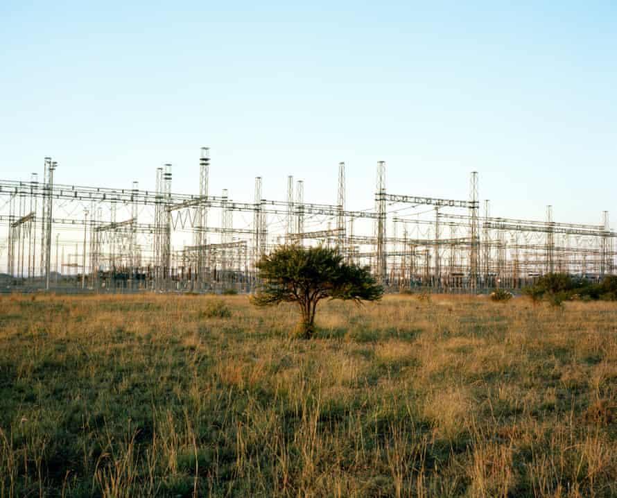 A power installation providing energy for the platinum mines in Marikana.