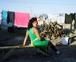 Thembisa Nkuzo, 28, spends most of her day in the shebeen run by her aunt, Mazula