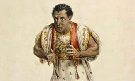 Edmund Kean as Othello. He died on stage playing the role