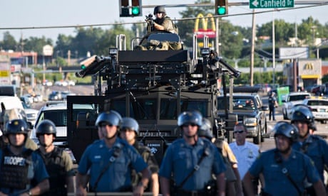 Michael Brown protests in Ferguson met with rubber bullets and ...