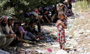 Displaced Yazidi people
