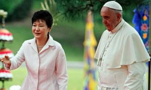Park Geun-hye and Pope Francis