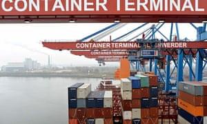 German exports at Hamburg