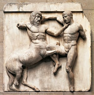 Metope from Parthenon, battle between Centaurs and Lapiths