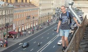 Sergey above Nesky Prospekt