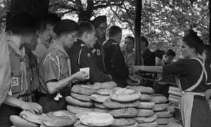 Boy scouts during the 6th World Scout Jamboree