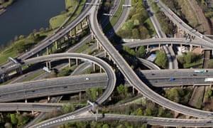 Aerial view of Spaghetti Junction, Graveley Hill, Birmingham