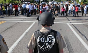 Police in Ferguson.