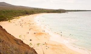 Big Beach at Makena state park on the island of Maui
