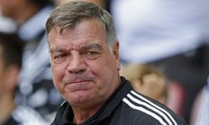 West Ham manager Sam Allardyce.