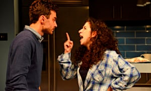 Jenna Augen and Ilan Goodman in Bad Jews.