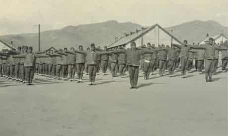 Chinese Labour Corps recruits exercising in Weihaiwei prior to departure to Europe