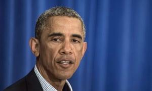 Barack Obama makes a speech at Martha's Vineyard.