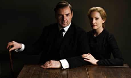 Brendan Coyle as John Bates and Joanna Froggatt as Anna Bates in the fifth series of Downton Abbey