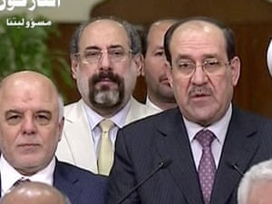 Iraq's prime minister for the past eight years, Nouri al-Maliki,  relinquishes his post to fellow Dawa Party member Haider al-Abadi.