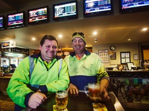 Locals enjoy a pint in the pub at Morwell.