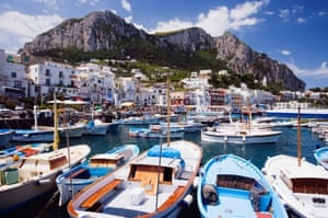 Capri's main harbour, Marina Grande.