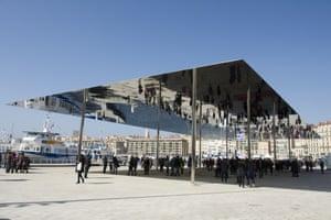 Foster + Partners' award-winning Vieux Port pavilion on Marseille's quayside.