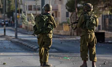 IDF soldiers at a checkpoint in Bethlehem, West Bank.
