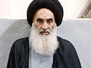 Iraqi Shia cleric Grand Ayatollah Ali al-Sistani.