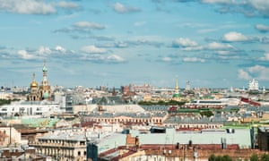 St Petersburg from the top of Saint Isaac's cathedral.