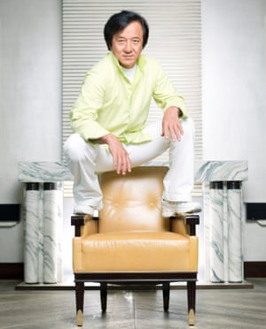 Jackie Chan shot for the Observer Magazine at the Corinthia Hotel in London SW1