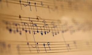 Musical notation on sheet music
