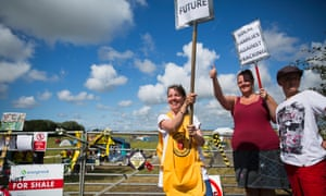 Anti-fracking campaigners on their six day reclaim the power camp near Westby, Lancashire, where Cuadrilla are planning to extract shale gas by fracking on 15 August 2014.