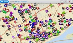 Detroit crime map