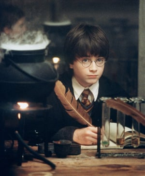 Daniel Radcliffe in the first Harry Potter film.