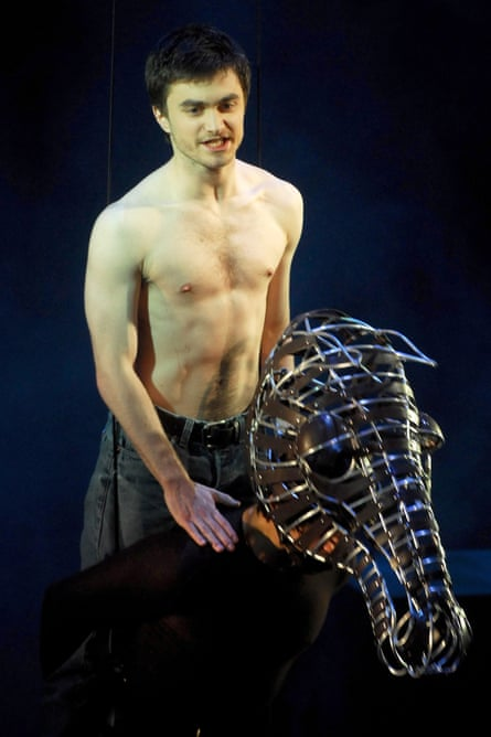 Daniel Radcliffe as Alan Strang in Equus at the Gielgud Theatre, London, in 2007.