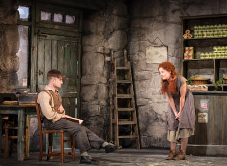 Daniel Radcliffe as Billy and Sarah Greene as Helen in The Cripple of Inishmaan
