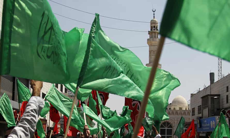 Palestinian supporters of Hamas