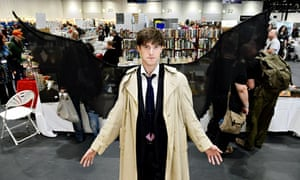 A Loncon 3 attendee dressed as Constantine