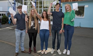 A level results students